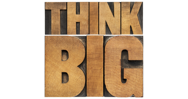 Think Big letter blocks